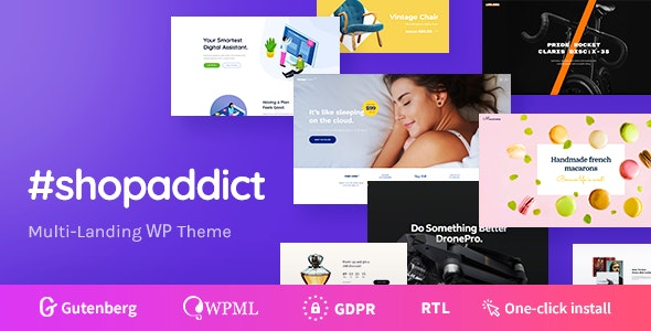Shopaddict - WordPress Landing Pages To Sell Anything - WooCommerce eCommerce