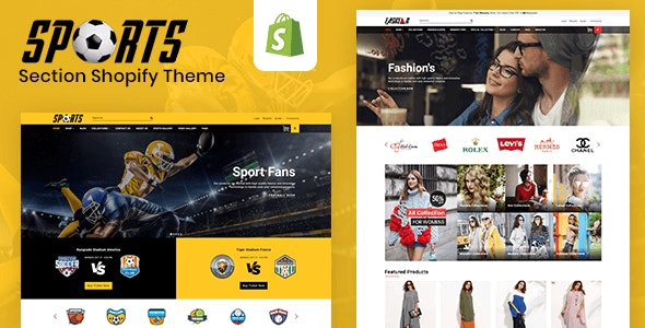 Sports - Multipurpose Responsive Drag & Drop Shopify Theme (Sections Ready) - Shopify eCommerce