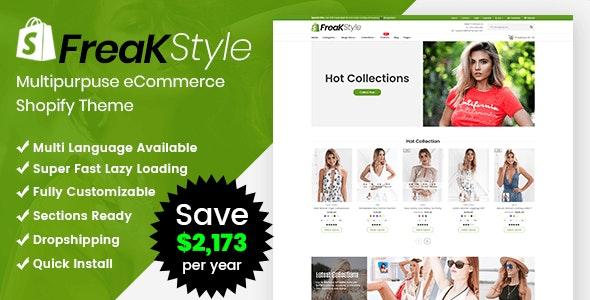 Freak - Fashion Shopify Theme Multipurpose Responsive Template - Shopify eCommerce