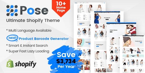 Pose - Fashion Shopify Theme Multipurpose Responsive Template - Fashion Shopify