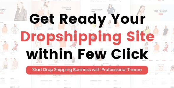 Dropshipping Website Templates from ThemeForest