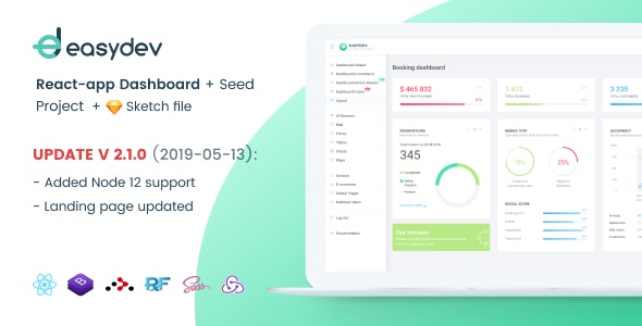 EasyDev — Developer Friendly React Redux BS4 Admin Template + Seed Project - Admin Templates Site Templates
