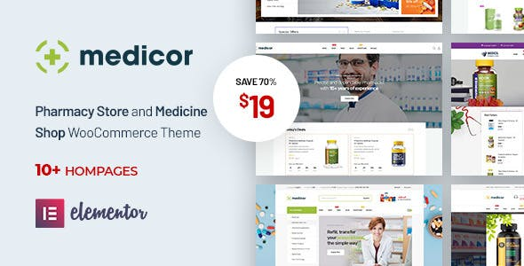 Medicor - Medical Clinic & Pharmacy WooCommerce WordPress Theme - WooCommerce eCommerce