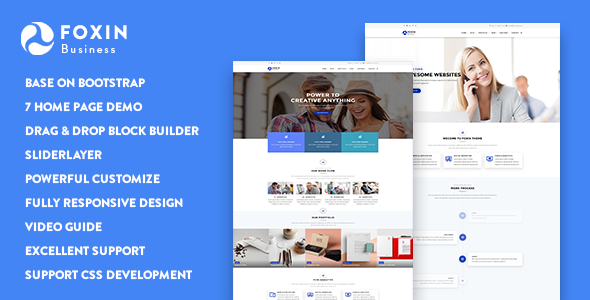 Foxin - Responsive Business Drupal 8.7 Theme - Business Corporate
