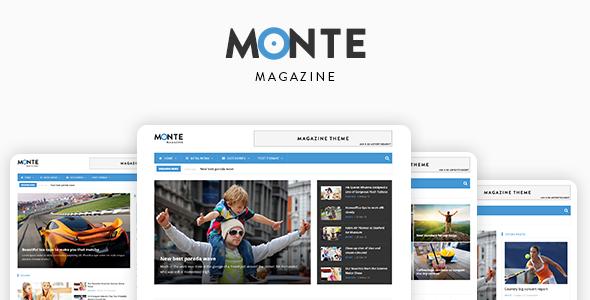Monte - Responsive Magazine News Drupal 8.7 Theme - News / Editorial Blog / Magazine