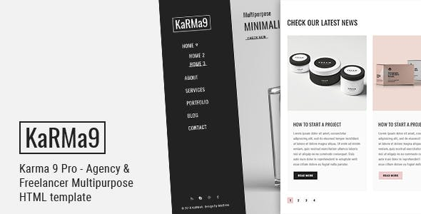Karma 9 Pro - Agency & Freelancer Multipurpose HTML Template by egprojets