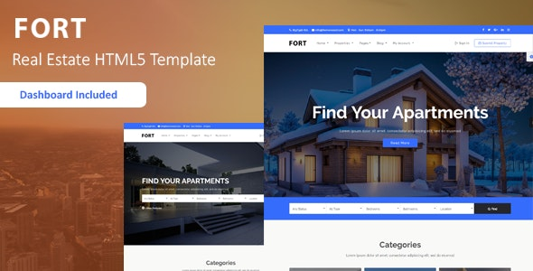 Fort - Real Estate HTML Template - Business Corporate
