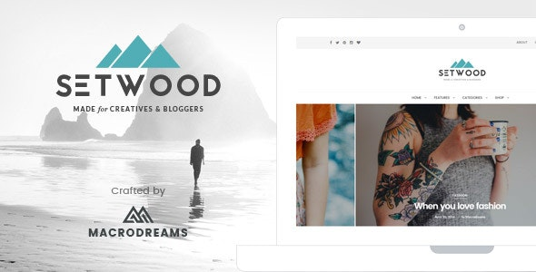 Setwood - WordPress Blog | Shop Theme - Personal Blog / Magazine