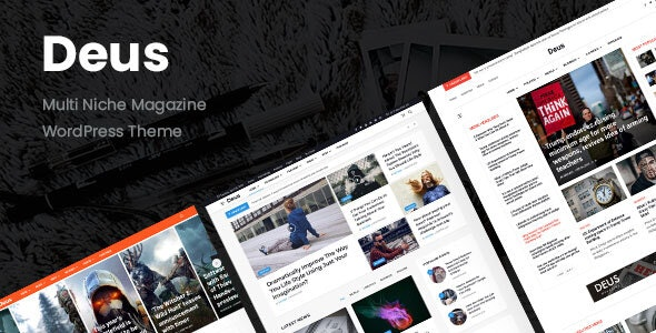 Deus | Multi-Niche Newspaper WordPress Magazine - Blog / Magazine WordPress