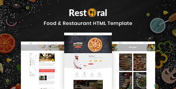 Restoral - Food & Restaurant HTML Responsive Bootstrap 4 Template - Restaurants & Cafes Entertainment