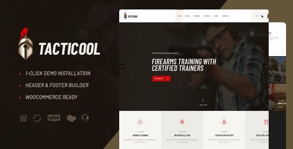 Tacticool   Shooting Range & Gun Store WordPress Theme - Retail WordPress