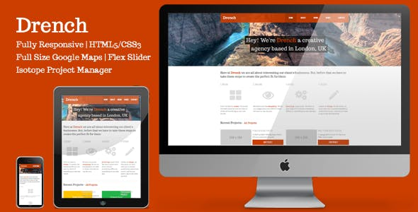 Drench - A Responsive HTML5 Creative Template