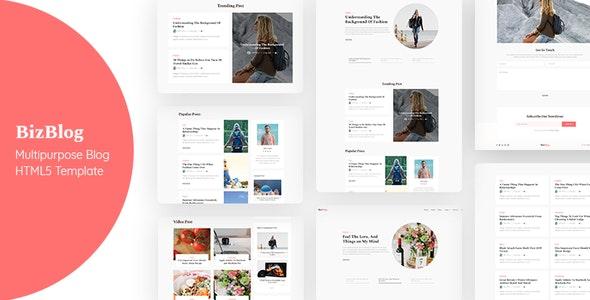 Bizblog | Multipurpose Personal Blog HTML5 Template - Miscellaneous Site Templates