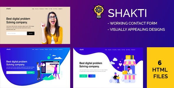 Shakti - Creative Digital Agency HTML Template - Creative Site Templates