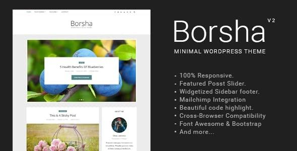 Borsha - Responsive Minimal Blog Theme - Personal Blog / Magazine
