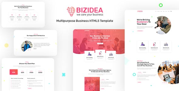 Bizidea  Multipurpose Business HTML5 Template by themelooks