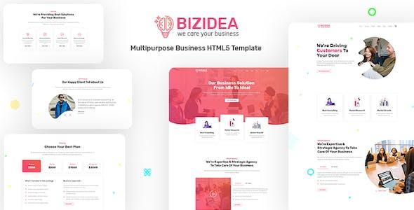 Bizidea | Multipurpose Business HTML5 Template