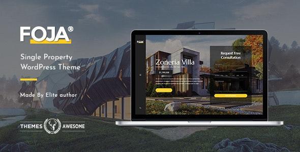 Foja   Single Property WordPress Theme - Real Estate WordPress