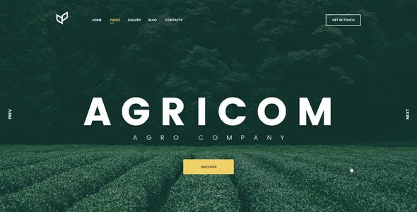 Agricom - Agriculture & Organic Food HTML Template Pack