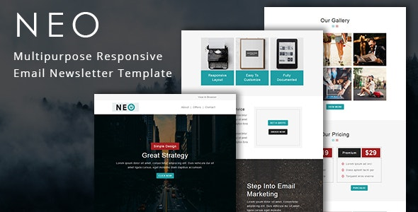 Neo - Multipurpose Responsive Email Template - Newsletters Email Templates