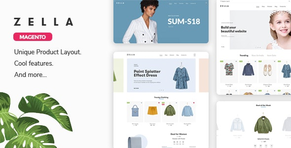 Zella - Fashion Responsive Magento 2 Theme ( RTL supported ) - Magento eCommerce