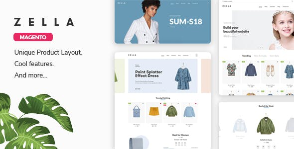 Zella - Fashion Responsive Magento 2 Theme ( RTL supported ) nulled theme download
