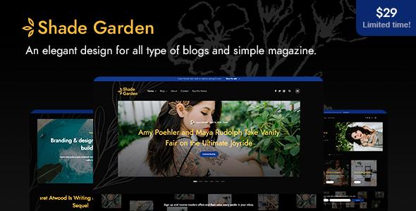 ShadeGarden - Creative Blog WordPress Theme - Personal Blog / Magazine