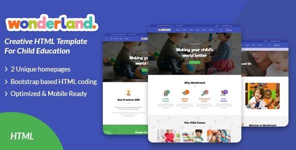 Wonderland - Kid Multipurpose Template - Children Retail