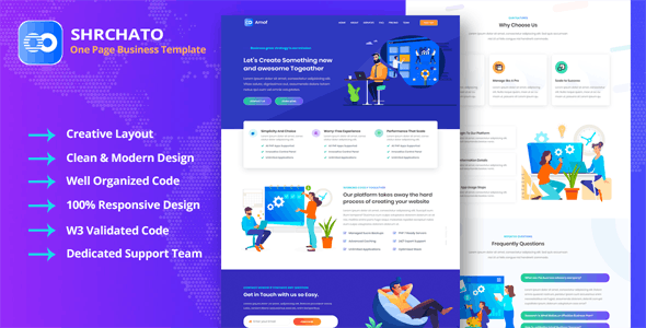 Shrchato - Business Corporate & Startup Agency Template
