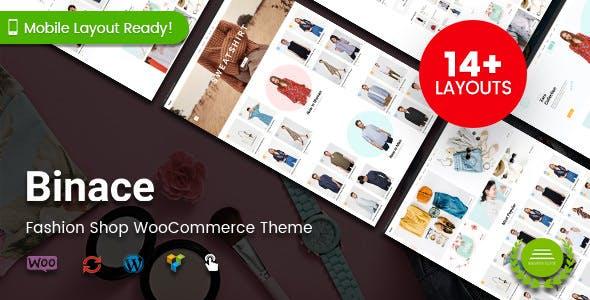 Binace - Fashion Shop WordPress WooCommerce Theme - WooCommerce eCommerce