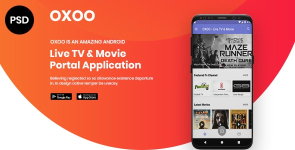 OXOO - App Landing Page PSD Template by spagreen | ThemeForest