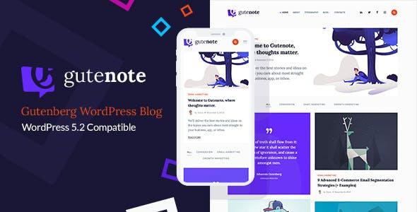 Gutenberg WordPress Creative Blog Theme - Gutenote - Blog / Magazine WordPress