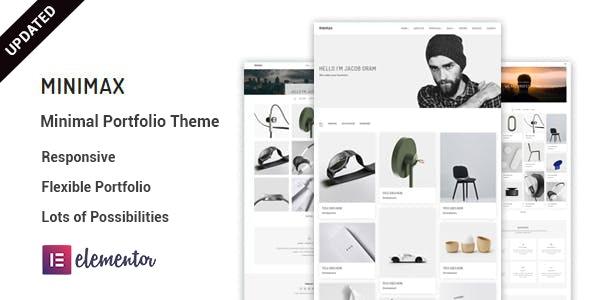 Minimax - Minimal portfolio WordPress Theme - Portfolio Creative