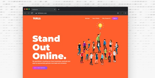 Turus - Digital Marketing Agency One-Page HTML Templates - Corporate Site Templates