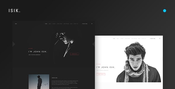 ISIK. — Creative Personal Portfolio PSD Template - Creative Photoshop
