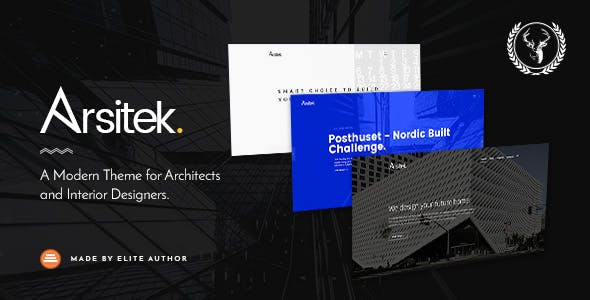 Arsitek | A Modern Theme for Architects and Interior Designers