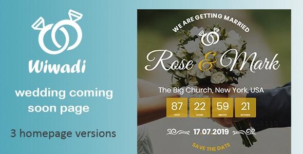 Wiwadi - Wedding Coming Soon HTML Template - Wedding Site Templates