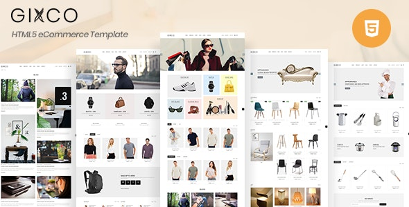 Gixco - eCommerce HTML Template - Retail Site Templates