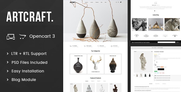 ArtCraft - Multipurpose OpenCart 3.x Responsive - Miscellaneous OpenCart