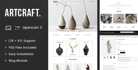 ArtCraft - Multipurpose OpenCart 3.x Responsive