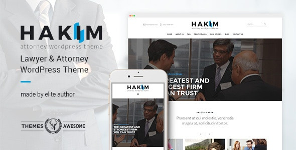 Attorney and Lawyer WordPress Theme - Hakim - Business Corporate