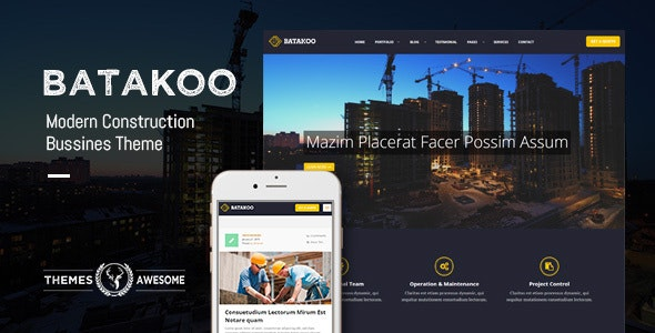Batakoo - Modern Construction WP Theme by themesawesome
