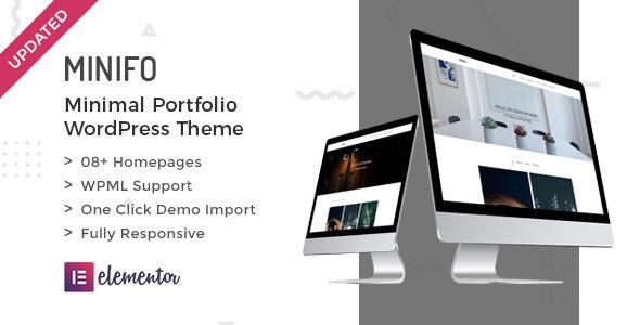 Minifo - Minimal Portfolio WordPress Theme - Portfolio Creative