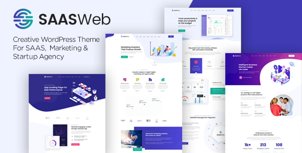 Saasweb - SaaS Startup WordPress Theme - Software Technology