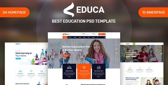 EDUCA - Education PSD Template - Miscellaneous Photoshop