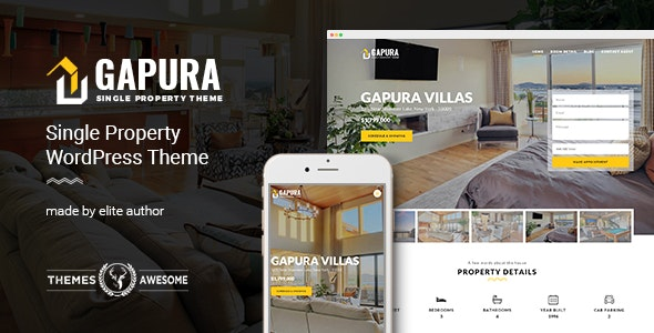Single Property WordPress Theme - Gapura by themesawesome