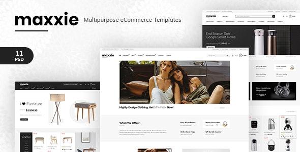 Maxxie - Multipurpose eCommerce PSD Template - Retail Photoshop