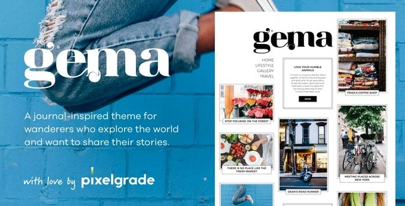 Gema - Journal Inspired WordPress Theme - Personal Blog / Magazine