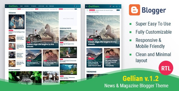 Mogtemplates - Gellian V.1.2 - News & Magazine Blogger Theme - Blogger Blogging