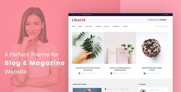 Liberte - Modern Magazine WordPress Theme - Blog / Magazine WordPress